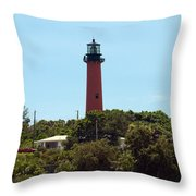 Jupiter Inlet Light Throw Pillow