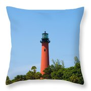 Jupiter Light In Florida Throw Pillow