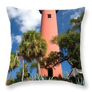 Jupiter Lighthouse II Throw Pillow