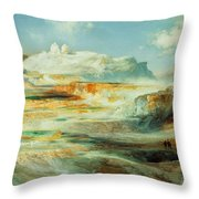 Jupiter Terrace  Yellowstone Throw Pillow