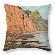 Jurassic Cliffs Throw Pillow