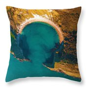 Jurassic Coast From The Air Throw Pillow