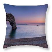 Jurassic Coast - Panorama Throw Pillow