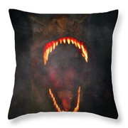 Jurassic Terror Throw Pillow