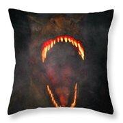 Jurassic Terror Throw Pillow