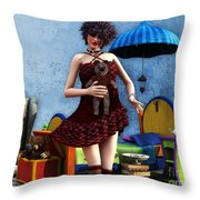 Just A Doll Throw Pillow