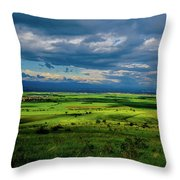 Just A Few Miles Away Throw Pillow