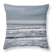 Just A Grey Day Throw Pillow
