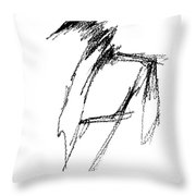 Just A Horse Sketch Throw Pillow