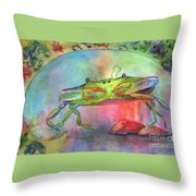 Just A Little Crabby Throw Pillow