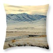 Just A Little Snow Throw Pillow