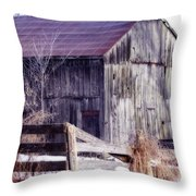 Just A Little Tlc Barn Throw Pillow