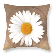 Just A Lonely Flower On Canvas Throw Pillow