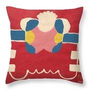 Just A Red Design Throw Pillow