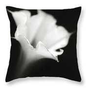 Just A White Flower Throw Pillow
