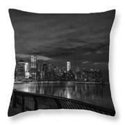 Just Across The River In Bandw Throw Pillow