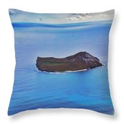 Just An Island Away Throw Pillow