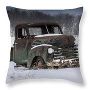 Just An Old Pickup Truck Throw Pillow