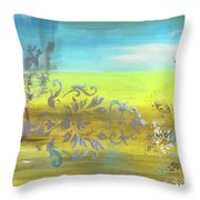 Just Another Damask In Paradise Throw Pillow