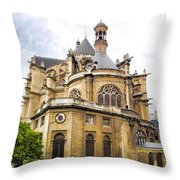 Just Another Paris Cathedral Throw Pillow