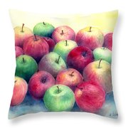 Just Apples Throw Pillow