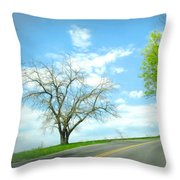 Just Around The Corner Throw Pillow