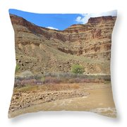 Just Around The River Bend 6 Throw Pillow