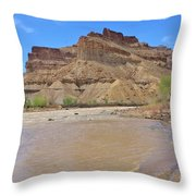 Just Around The River Bend 7 Throw Pillow