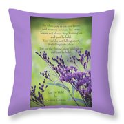 Just Be Held Throw Pillow
