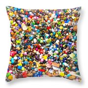 Just Beads Throw Pillow