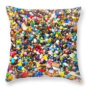 Just Beads Throw Pillow