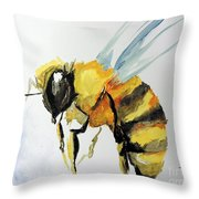 Just Beecause Throw Pillow