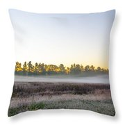 Just Before Dawn At Valley Forge Throw Pillow