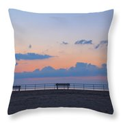 Just Before Sunrise In Asbury Park Throw Pillow