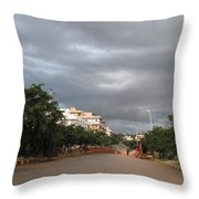 Just Before The Downpour Throw Pillow