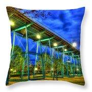 Just Before The Storm Walnut Street Pedestrian Bridge  Throw Pillow