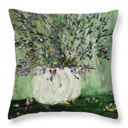 Just Beginning To Bloom Throw Pillow