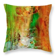 Just Being - Abstract Art Throw Pillow