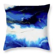 Just Blue Throw Pillow