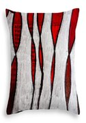 Just Bones - Ink Abstract Throw Pillow
