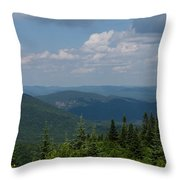 Just Climb Mountains And Breathe Deeply Throw Pillow