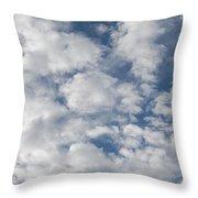 Just Clouds Throw Pillow