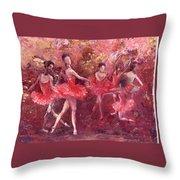 Just Dancing Throw Pillow