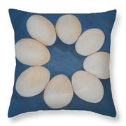 Just Eggs Throw Pillow