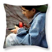 Just Fishin Throw Pillow