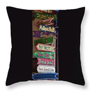 Just Follow The Signs Throw Pillow