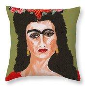Just Frida Throw Pillow