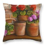 Just Geraniums Throw Pillow