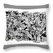 Just Halloweeny Things Throw Pillow