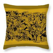 Just Halloweeny Things V5 Throw Pillow